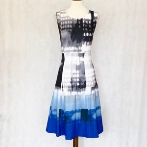 Calvin Klein Scuba Knit Pattern Fit & Flare Dress